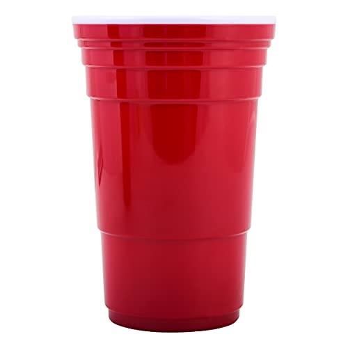Red Cup Living Reusable Red Plastic Cups - 32 oz Party Cups - Extra Sturdy Big Red Cups- BPA Free and Washable - The Ideal Large Plastic Cups for Parties, BBQ, and Camping