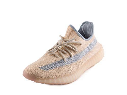 adidas Mens Yeezy Boost 350 V2 Linen Linen/Linen/Grey Woven Size 10.5
