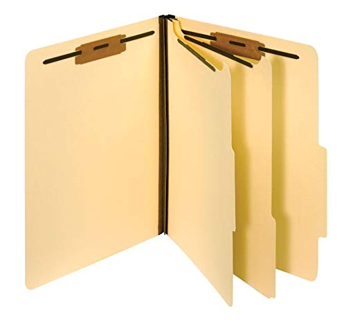 Pendaflex Manila Classification File Folders, 2 Dividers, 2