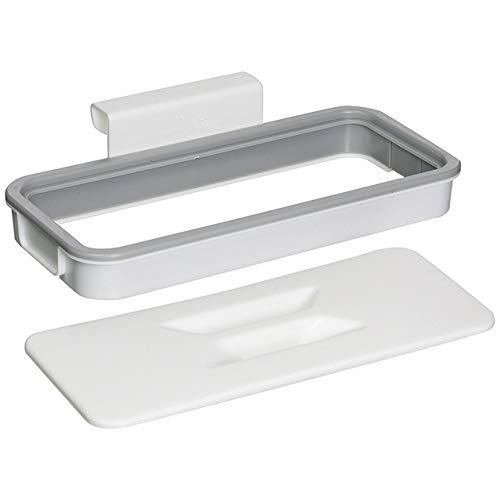 cottonlilac Soporte para Bolsa de Basura Puerta de la Cocina Soporte de plástico Trasero Colgador de Almacenamiento de Basura de Cocina Estantes para Colgar Basura - Blanco