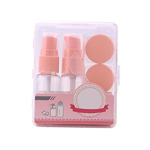 Ruluti 1 Caja De Viaje De Artículos De Tocador Envases De Productos Cosméticos De Maquillaje a Prueba De Fugas De Líquidos del Envase Recargable De Plástico Transparente Botellas Vacías