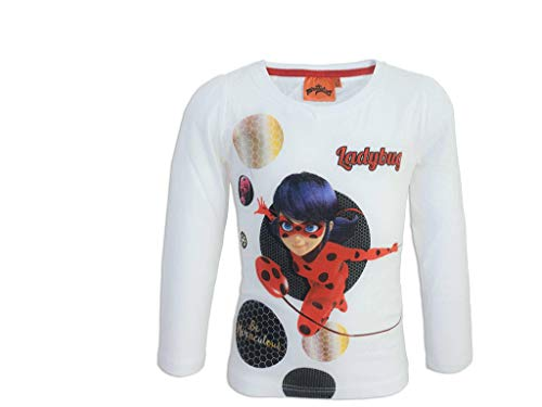 Miraculous Ladybug Langarmshirt (146, weiß)