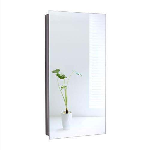 Spiegelschränke Dreieck badezimmerspiegelschrank lagerung Edelstahl eckspiegelschrank tür (Color : Silver, Size : 30 * 60 * 20cm)