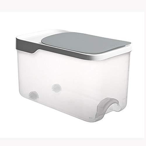 WZHZJ Arroz Caja de Almacenamiento de Grano de Cereal dispensador de Tapa abatible Alimentos Organizador del almacenaje del envase Sellado Cocina el arroz Cubo a Prueba de Insectos (Color : B)