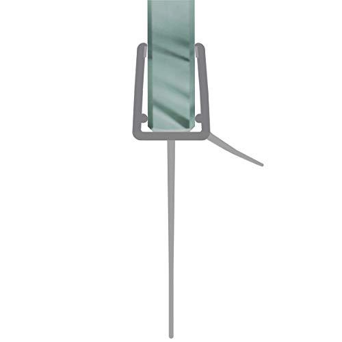 Duschdichtung gebogen Runddusche Schwallschutz Streifdichtung Ersatzdichtung Wasserabweiser Viertelkreis extra lange Dichtlippe 50 cm für 4-8 mm Glasstärke