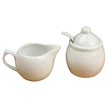 Omniware Culinary Cream and Sugar Set,White