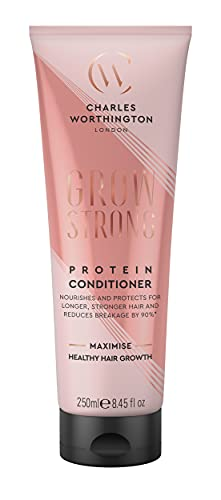 Charles Worthington Grow Strong Protein Conditioner, Hair Growth Conditioner for Fine Hair, 250 ml