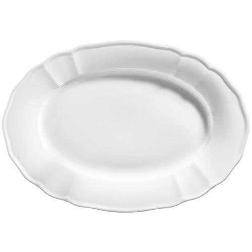VEGA 30018014 Platte Amely, oval, 36x24.5 cm (LxB), weiß, 2 Stück