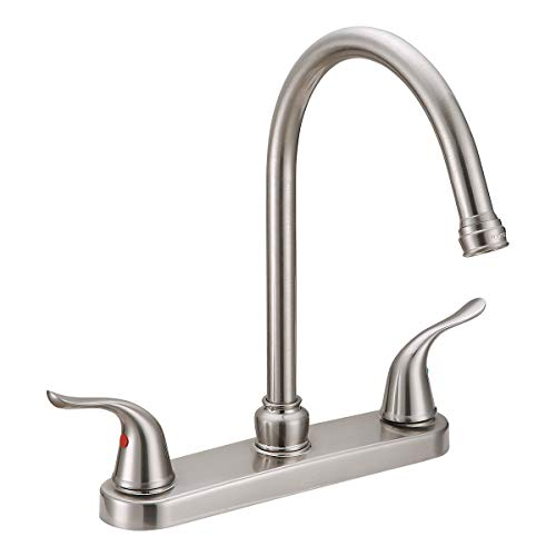 EZ-FLO 10199, Brushed Nickel Two-Handle High-Arc Kitchen Faucet