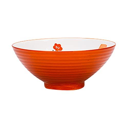 LOKIH Tazones De Sopa Tazón De Ramen para Cereales, Pasta, Fideos, Aperitivo, 4 Colores a Elegir,Naranja,17.8cm