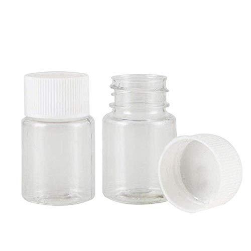 MHXY Transparent 10 stücke Kunststoff PET Klar Leere Dichtungsflaschen 15ml 20ml 30ml 50ml Feste Pulver Medizin Pille Chemische Behälterreagenzfläschchen Glasflasche