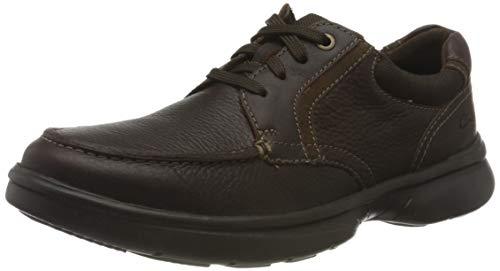 Clarks Herren Bradley Vibe Sneaker, Brown Tumbled Leather,41.5 EU