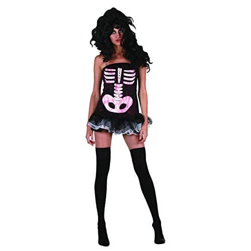 Ciao-Costume Sexy Skeleton donna, taglia unica adulto, Nero, 62174