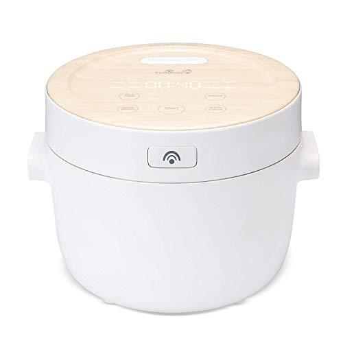 Yum Asia Fuji Cuociriso con riscaldamento a induzione (IH) e ciotola in ceramica fatta a mano, 6 funzioni di cottura del riso, 4 funzioni multicooker, display a LED nascosto (0,7L) 220-240V UK/EU