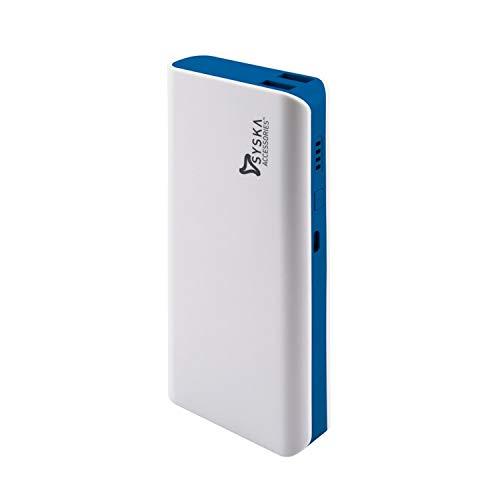 Syska 11000mAH Lithium Ion X110 Power Bank (White-Blue)