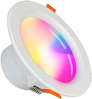 Foco LED empotrable WiFi Alexa/SUMGLED/Smart de 5 W, varios colores, intensidad regulable, blanco LED, mando a distancia, compatible con Alexa Google Home
