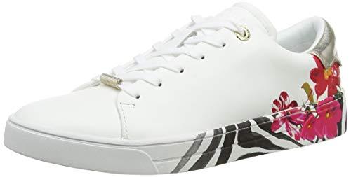 Ted Baker Damen Lennes Sneaker, Elfenbein, 42 EU