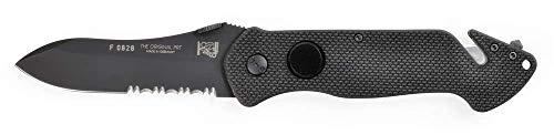 Eickhorn - Rettungsmesser PRT-VIII N695 G-10 Schwarz   Klingenlänge: 8,4 cm   Klappmesser - Taschenmesser - Solingen - Messer   rostfrei