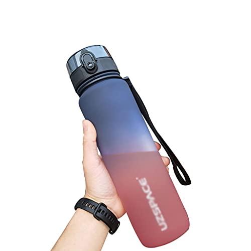 LMG Botella 22/34 Oz Botella de Agua Copa de Agua de Gran Capacidad Copa de Agua Creativa Portátil Unisex Tritan Material Libre de BPA (Color : Blue, tamaño : 21 Ounces)