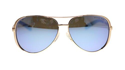 Michael Kors MK5004 Chelsea Polarized Sunglasses Rose Gold w/Purple Mirror (1003/22) MK 5004 100322 59mm Authentic, 59/13/135