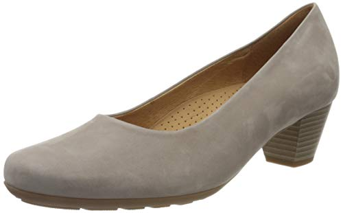 Gabor Shoes Damen Comfort Fashion Pumps, Beige (Leinen 33), 42 EU