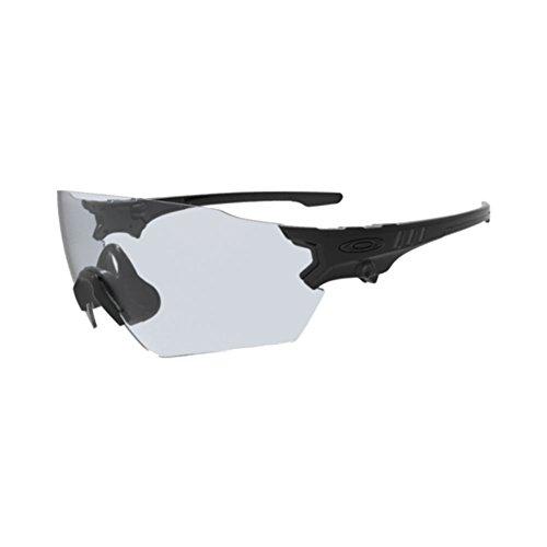 Oakley Men's OO9328 SI Tombstone Spoil Shield Sunglasses, Matte Black/Clear, 39 mm