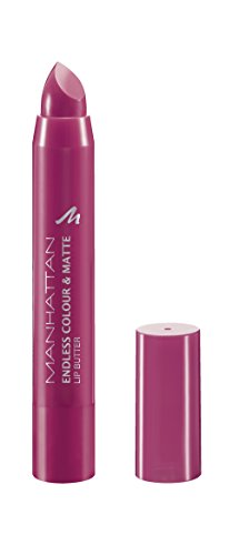 Manhattan Endless Colour & Matte Lip Butter – Lippenstift mit langanhaltendem Matt-Effekt in Pink – Farbe Blooming Fuchsia 850 – 1 x 3g