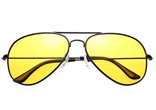 ShSnnwrl Gafas Sol De Hombre Mujer Polarizadas Sunglasses Gafas De Sol De Visión Nocturna De Aviador para Hombres Y Mujeres Gafas De Diseñ
