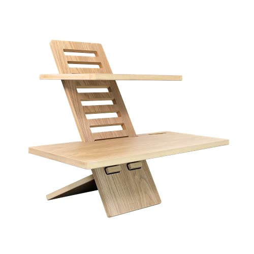 Stand Desk Medium Oak – skrivbordsfastsättning, ståskrivbord höj och ståbord