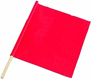 Bon 14-982 18-Inch by 18-Inch Fluorescent Red/Orange Traffic Warning Flag