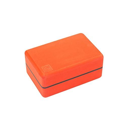 GCX Ladrillo de yoga elástico de alta densidad Iyengar respetuoso con el medio ambiente de EVA engrosado, equipo auxiliar de yoga para principiantes, dureza (color naranja)