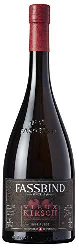 Fassbind Vieux Kirsch (1 x 0.7 l) - Edler Schweizer Obstbrand aus reifen Kirschen mit 40% vol. Alkohol