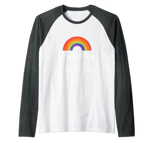 El deseo de los turistas de viajes y Explorador Camiseta Manga Raglan