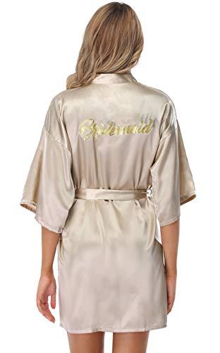 Vlazom Kimono Mujer Bata para Satén Mujer, Albornoces para Mujer de Batas...