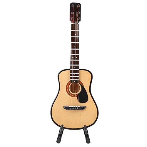 MDHANBK Modelo de Guitarra eléctrica de Madera de 10/16cm, decoración de Instrumentos Musicales en Miniatura