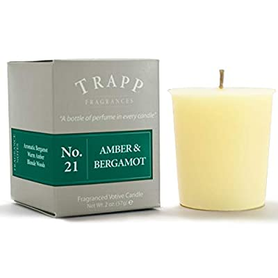 Trapp Signature Home Collection No. 21 Amber & Bergamot Poured Candle, 7-Ounce