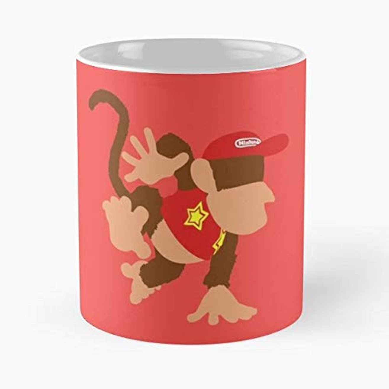 Diddy Kong Smash Bros 4-11oz Novetly Ceramic Cups, Unique Birthday And Holiday Gifts For Mom Mother Wife Women.