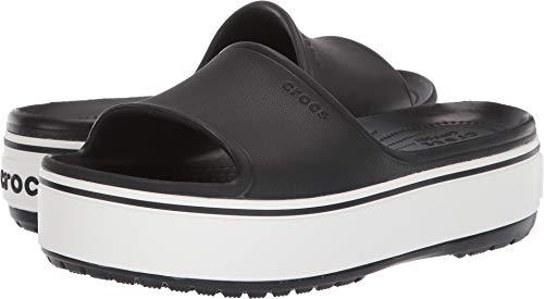 Crocs Unisex-Erwachsene Crocband Platform Slide U Dusch-& Badeschuhe, Schwarz (Black/White 066b), 39/40 EU