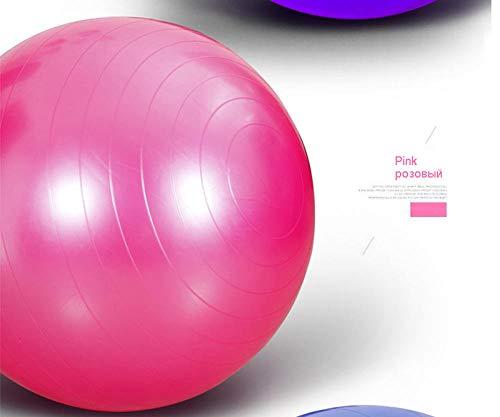 YSCYLY Sitzball Gymnastikball,Trainingsmassage 55/65/75CM mit Pumpe,FüR Geburt RüCkbildung Beckenbodentraining & Fitness Anti-Burst