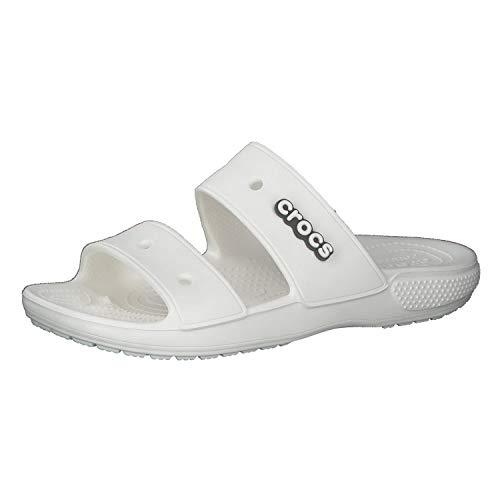 Crocs Classic Sandal, Sandalia Unisex Adulto, White, 38/39 EU