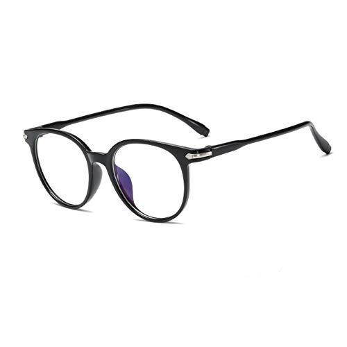 Suertree Blaulichtfilter Myopia Brille Leichte Kurzsichtigkeit Brille Scharnier Mode Distanz Brille für Damen Herren 959 Schwarz -1.0