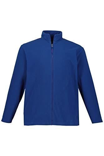 JP 1880 Herren große Größen bis 7 XL, Fleece Jacke, Sweat-Jacke, Stehkragen, Reißverschluss & 2 Taschen, Outdoor Kleidung, summerblue 4XL 705552 78-4XL