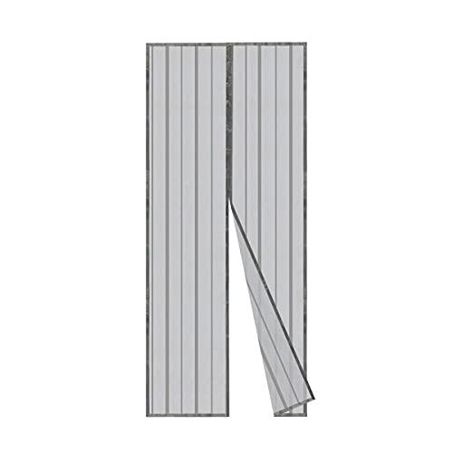 Sekey Cortina Magnética de Puerta a Prueba de Mosquito para Puertas de Madera, Puertas de Hierro, Puertas Metálicas, Puertas del Balcón, Puertas de RV, Cierre Magnético Automático, 80x200 cm, Negro