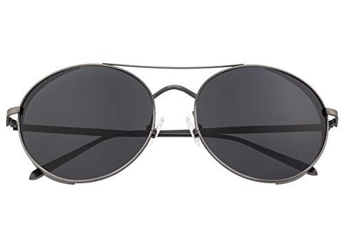Breed Barlow Herren Sonnenbrille, rund, polarisiert, BSG055, BSG055GY, BSG055GY