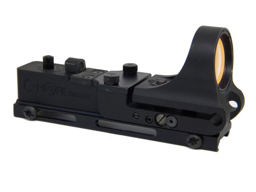 C-MORE Systems Railway Red Dot Sight with Standard Switch, Aluminum, 2 MOA