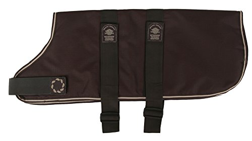 Outhwaite gewatteerd met verstelbare riem hond jas, 12-inch, bruin, 28 inch, BRON