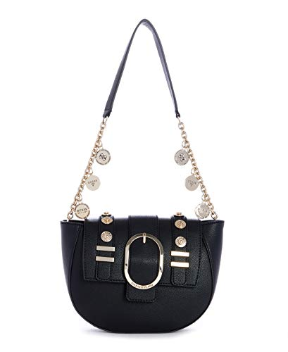 Guess BORSA ZAYA CHARM STRAP SHOULDER BAG BLACK B20GU29