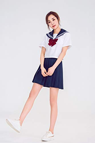 Preisvergleich Produktbild WSJDE Orthodox JK Uniform Rock Japanischer Matrosenanzug College Damen Set XL