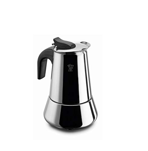 Pezzetti Espressokocher Steelexpress 2 Tassen Induktion Edelstahl