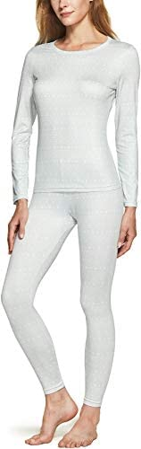 TSLA Women s Thermal Underwear Set Soft Fleece Lined Long Johns Winter Warm Base Layer Top Bottom product image